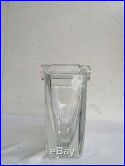 Thomas BASTIDE Vase pour BACCARAT Modèle OCEANIE Cristal Signe Millefiori Crytal