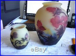 Tres Beau Vase Aux Anemones Muller Fres Luneville Art Nouveau Galle No Copy