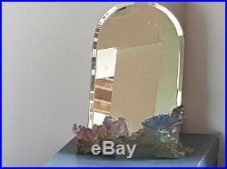 Tres Jolie Miroir En Pate De Verre De Daum Modele Coquillage Cristal