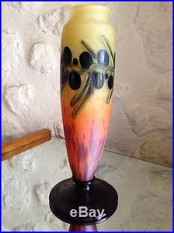 Tres Rare Vase De Schneider Epoque 1900 Daum, galle, Lalique