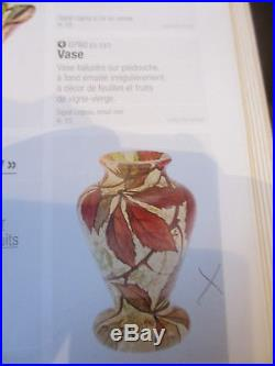 Tres Rare Vase Signe Legras