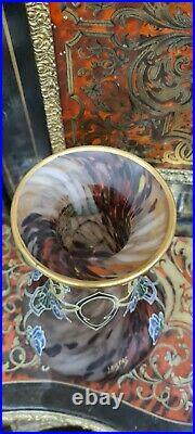 Très beau Vase Legras ancien Art Nouveau