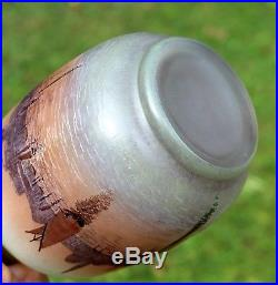 Très beau vase Legras Venise éra Daum Gallé Muller