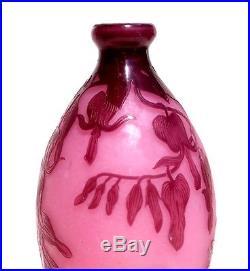 Très joli vase Delatte fleurs curs de Marie éra Daum Gallé Muller