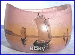 Très joli vase Legras voiliers au soleil couchant, parfait, era daum galle 19
