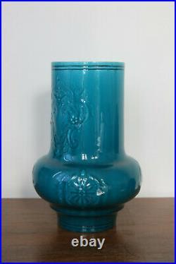 VASE, Céramique Art Nouveau, Théodore DECK, faïence, émail bleu, XIXe siècle
