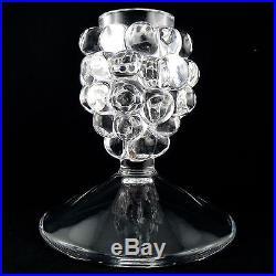 VASE à BOUQUET SEC Le Raisin Cristal René LALIQUE daum/baccarat/grape/crystal
