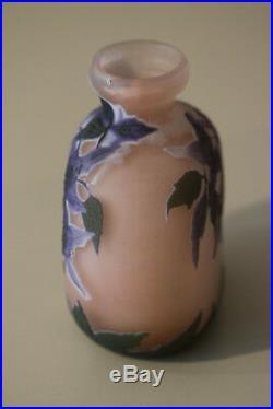 Vase Ancien Art Nouveau Emile Galle Nancy #croixrouge