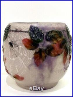 Vase Araignées Ronces Gabriel Argy-Rousseau Spiders Brambles Glass Pate De Verre