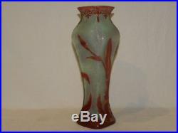 Vase Art Nouveau Cristal De Baccarat Decor Fleur Narcisse / Daum Legras St Louis