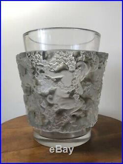 Vase Bacchus Patine Gris-Marron Rene Lalique R. Lalique Grey-Brown Stain Glass