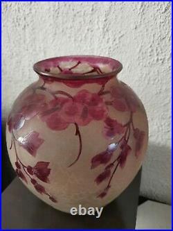 Vase Boule Legras Dégage A L Acide Model Rubis