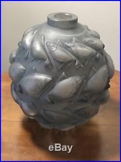 Vase Camaret René Lalique R. Lalique Stained Glass Vase Fishes