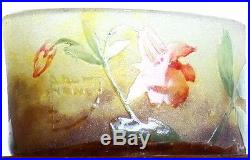 Vase Columbine Signé Daum Nancy Croix de Lorraine Gallé Art Nouveau circa 1900
