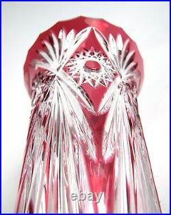 Vase Cristal Taillé signé Gross Le Clairupt Baccarat Cristallerie d' Art France