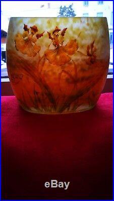 Vase DAUM de forme oblongue
