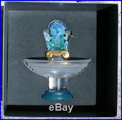 Vase DAUM en cristal, bronze et pâte de verre en parfait état