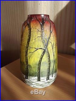 Vase Daum Nancy A La Neige