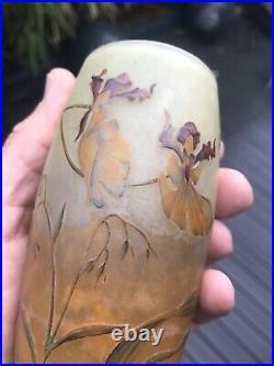 Vase Daum Nancy Orchidees