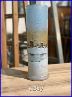Vase Daum Nancy Paysage Enneigé