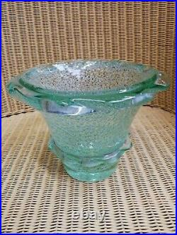 Vase Daum croix de Lorraine Nancy France/années 50/vase bulles/Old vase