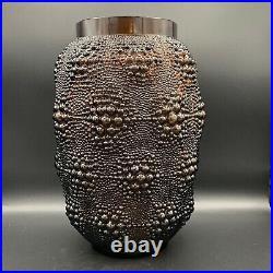 Vase Davos de R. Lalique en verre topaz