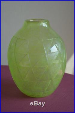 Vase Degué Art Déco style Schneider Daum Muller