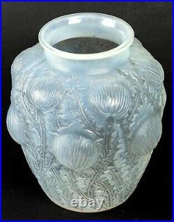 Vase Domrémy Opalescent Patiné Gris René Lalique R. Lalique Stained Glass Vase
