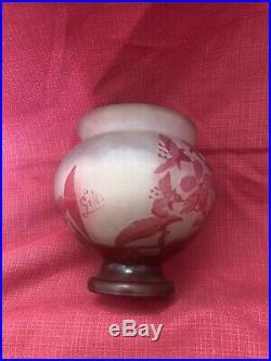 Vase Émile Galle Art Nouveau Pte De Verre