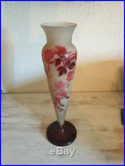 Vase Emile Gallé ancien