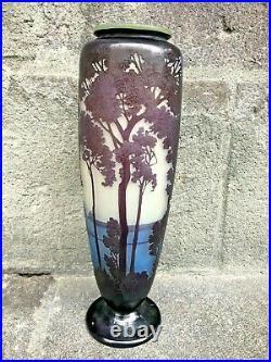 Vase Emile Gallé décor Maritime 36,5 cm
