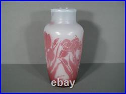 Vase En Pte De Verre Signé Bendor / Vase Bendor Pte De Verre Dégagé A L'acide