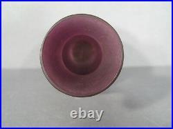 Vase En Pte De Verre Signé Vessiere Nancy / Vase Art Déco Décor Coquelicots