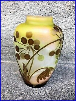 Vase GALLE signé à l'étoile