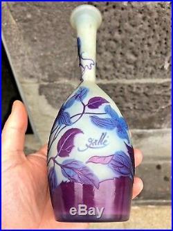 Vase Gallé décors floral