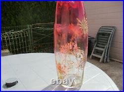Vase LEGRAS. Modèle OLGA. TOKYO émaillés. Hauteur 35 cm