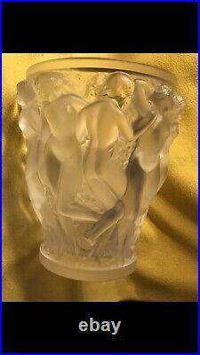Vase Lalique Bacchante Signé Lalique France Modele de Rene Lalique