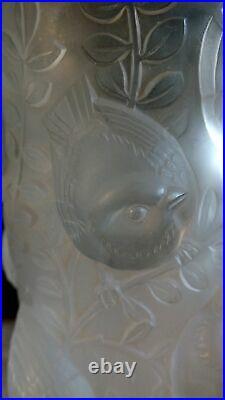 Vase Lalique Saint Francois Moineaux 1930
