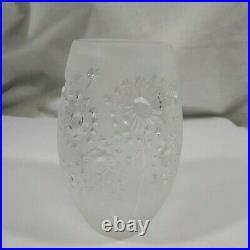 Vase Lalique, modèle bucolique en cristal signé, numéroté avec boîte d'origine