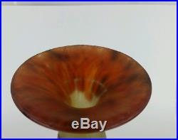 Vase Le verre français vase décor de fuchsias