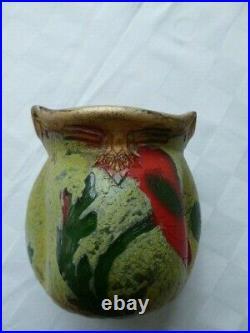 Vase Legras Indiana, At Nouveau, Pate de verre