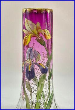 Vase Legras Lamartine iris dégradé violettine Legras vase iris