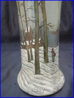 Vase Legras forme Belgrade paysage de neige François Théodore Legras