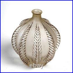 Vase Malines Verre Patiné Gris René Lalique R. Lalique Glass Grey Patina