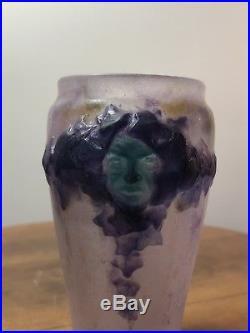 Vase Masques Gabriel Argy-Rousseau Masks Glass Pate De Verre