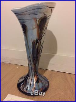 Vase Michèle LUZORO (verrier Biot) daté 1993 + certificat (épouse de JC Novaro)