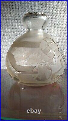 Vase Moderniste Art Déco Dégagé A L'acide
