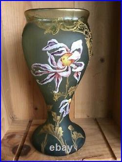 Vase Montjoye Legras, signé Mont Joye L. C. Hauteur 29 cm, poids 1,590 kg