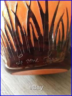 Vase Ovoïde Signé Le Verre Français Les Cardamines 1924-1927