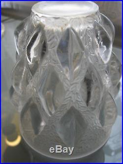 Vase René lalique modele Rampillon hauteur 13cm